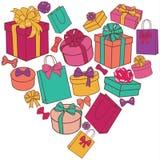 Herz von Geschenken Stockfotografie