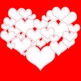 Herz von Herzen Lizenzfreie Abbildung