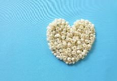 Herz von Jasminblumen Stockfoto