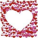 Herz von Liebeshintergrund Illustration Lizenzfreies Stockbild