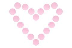 Herz von Pillen lizenzfreies stockfoto