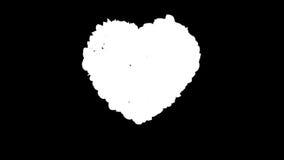 Herz von Rose Petals explodierend, Alpha, Gesamtlänge auf Lager stock abbildung