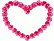 Herz von Rosen Stockbild