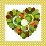Herz von Salatblättern Stockbild