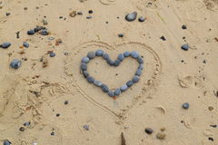 Herz von Steinen Lizenzfreie Stockfotos