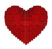 Herz von Würfeln Lizenzfreie Abbildung