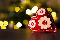 Herz-Weihnachtsdekoration Stockbild