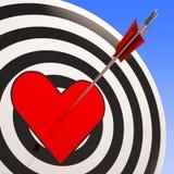 Herz zeigt die Romance Liebes-Leidenschaft und Gefühl Stockfotos