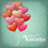 Herzballone für Valentinsgruß ` s Tag Stockfotografie