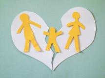 Herzbruch der zerbrochenen Familie lizenzfreie stockbilder