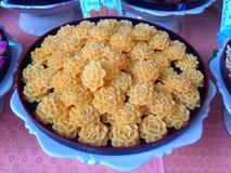 Herzchenplätzchen-Thailand-Lebensmittel Stockfotos