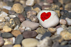 Herzen auf einem Stein Lizenzfreies Stockbild