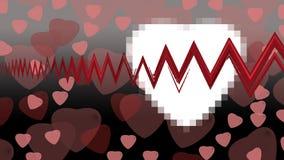 Herzen auf Hintergrund Stockfotografie
