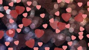 Herzen auf Hintergrund Stockbild
