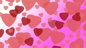 Herzen auf Hintergrund Stockbilder