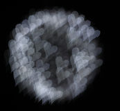 Herzen bokeh Farbe stockbilder