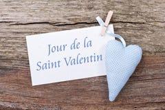 Valentin ` s Tageskarte Stockfotos