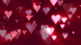 Herzen der Liebe (rosa Hintergrund) vektor abbildung