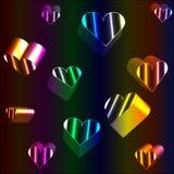Herzen des Neons 3D stockfotos