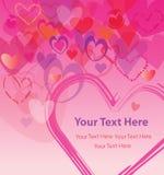 Herzen, die Liebe für die liebe ausdrücken lizenzfreie abbildung