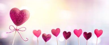 8 Herzen für den Tag der Frauen Lizenzfreies Stockfoto