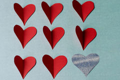 Herzen für Heiliges Valentinstag lizenzfreie stockbilder