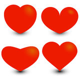 Herzen für Ihr Design Stockfoto