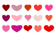 Herzen für Ihr Design Stockbilder
