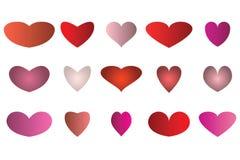 Herzen für Ihr Design Stockfotos