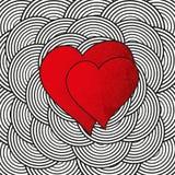 Herzen für Valentinsgruß-Tag Stockfotos