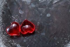 Herzen im Eis Lizenzfreie Stockbilder