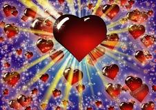 Herzen StValentine-` s Tageshintergrundmuster Lizenzfreies Stockbild