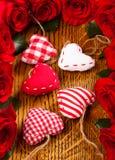 Herzen und Blumen Lizenzfreies Stockfoto