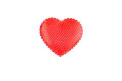 Herzen und Blumen zum Valentinsgruß lokalisiert auf weißem Hintergrundesprit Stockbild