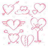 Herzen und Liebe Lizenzfreie Stockfotos