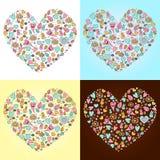Herzen und Symbole Stockbilder