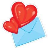 Herzen und Umschlag Stockbild