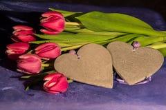 Herzen und Valentin-` s Tag Stockbild