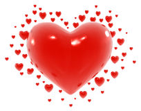 Herzen Valentine Abstract Lizenzfreies Stockbild