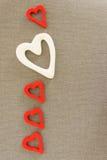 Herzen vom Filz Stockbilder