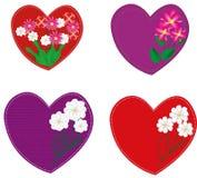 Herzen während des Feiertag Valentinstags lizenzfreie abbildung