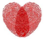Herzfingerabdruck Stockfoto
