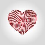 Herzfingerabdrucklogo Stockbild