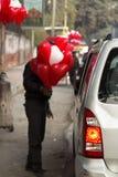 Herzform baloons Lizenzfreie Stockfotografie