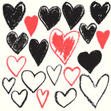 Herzform-Beschaffenheitshintergrund lizenzfreie abbildung