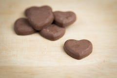 Herzform der Schokolade Lizenzfreie Stockfotografie