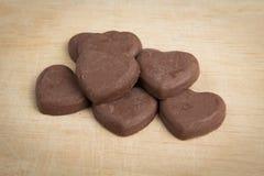 Herzform der Schokolade Stockbild