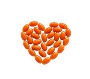 Herzform des Coenzyms Q10 Lizenzfreies Stockbild