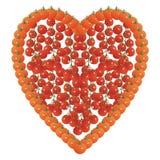 Herzform gemacht von den Tomaten Stockfotografie