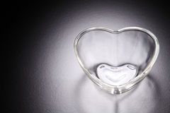 Herzform-Glasbehälter stockbilder